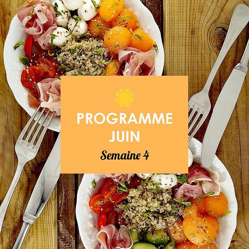 Programme Juin - Semaine 4