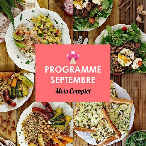 Programme Complet Septembre