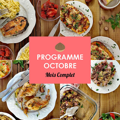 Programme Complet Octobre