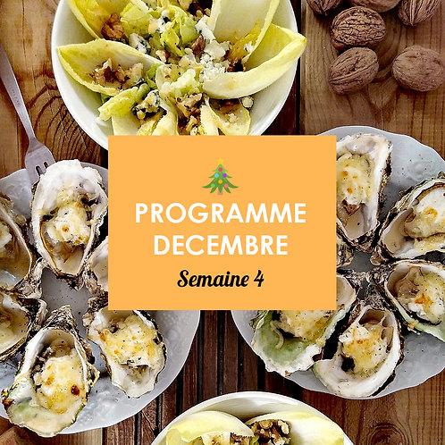 Programme Décembre - Semaine 4