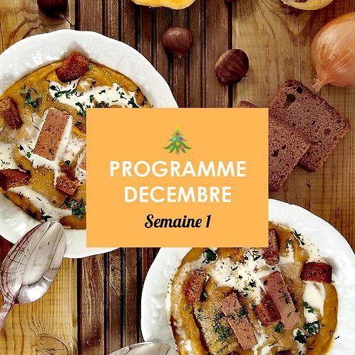 Programme Décembre - Semaine 1