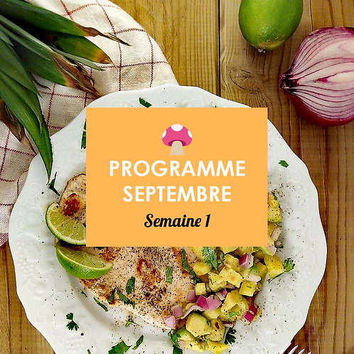 Programme Septembre - Semaine 1