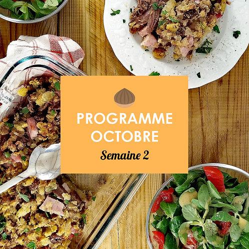 Programme Octobre - Semaine 2