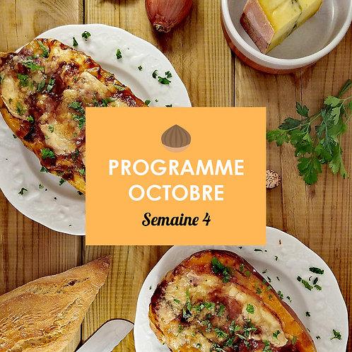 Programme Octobre - Semaine 4