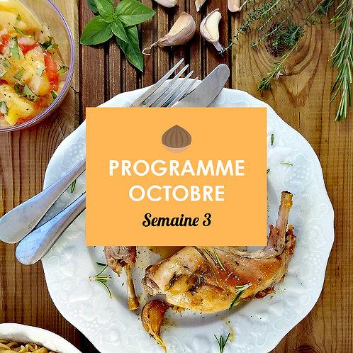 Programme Octobre - Semaine 3