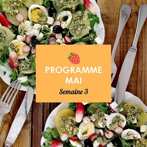 Programme Mai - Semaine 3