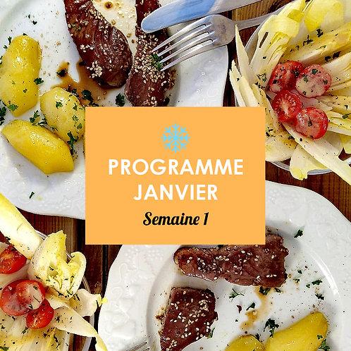 Programme Janvier - Semaine 1