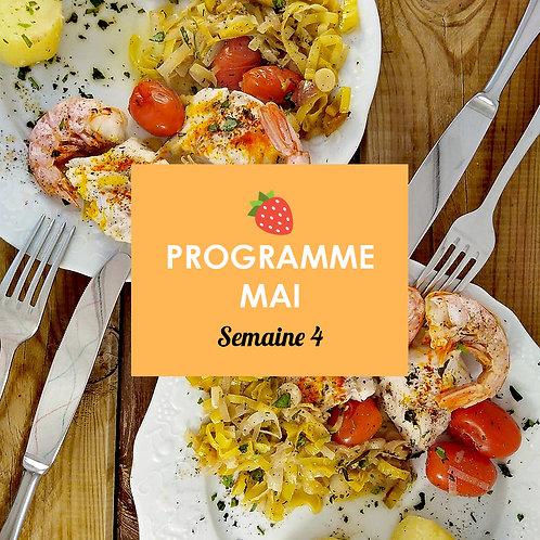 Programme Mai - Semaine 4