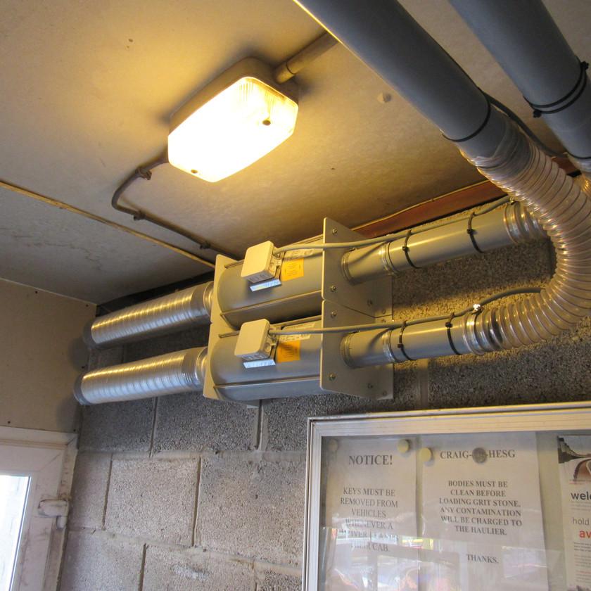 AEROCOM Pneumatic Tube System for Gatehouse Security