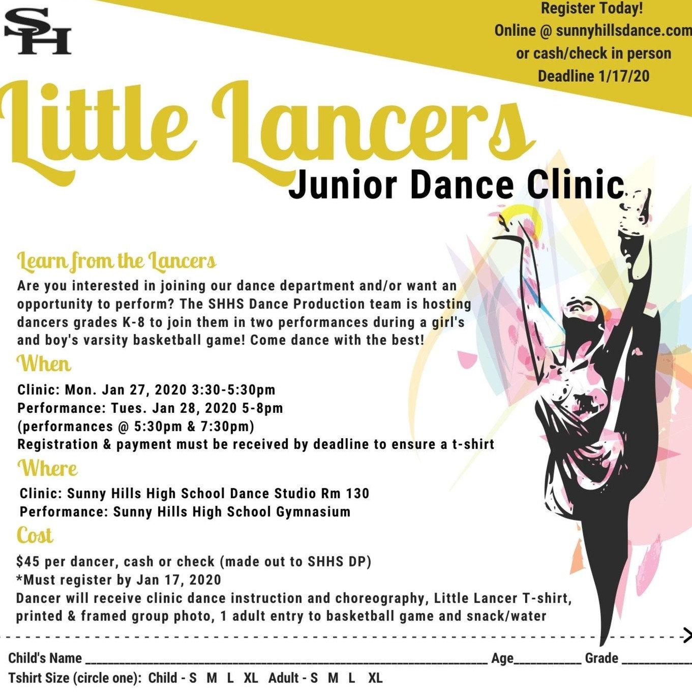 """""""Little Lancer"""" Junior Dance Clinic"""