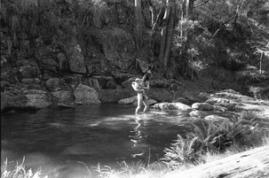 Wilf and Eva at Bells Creek.