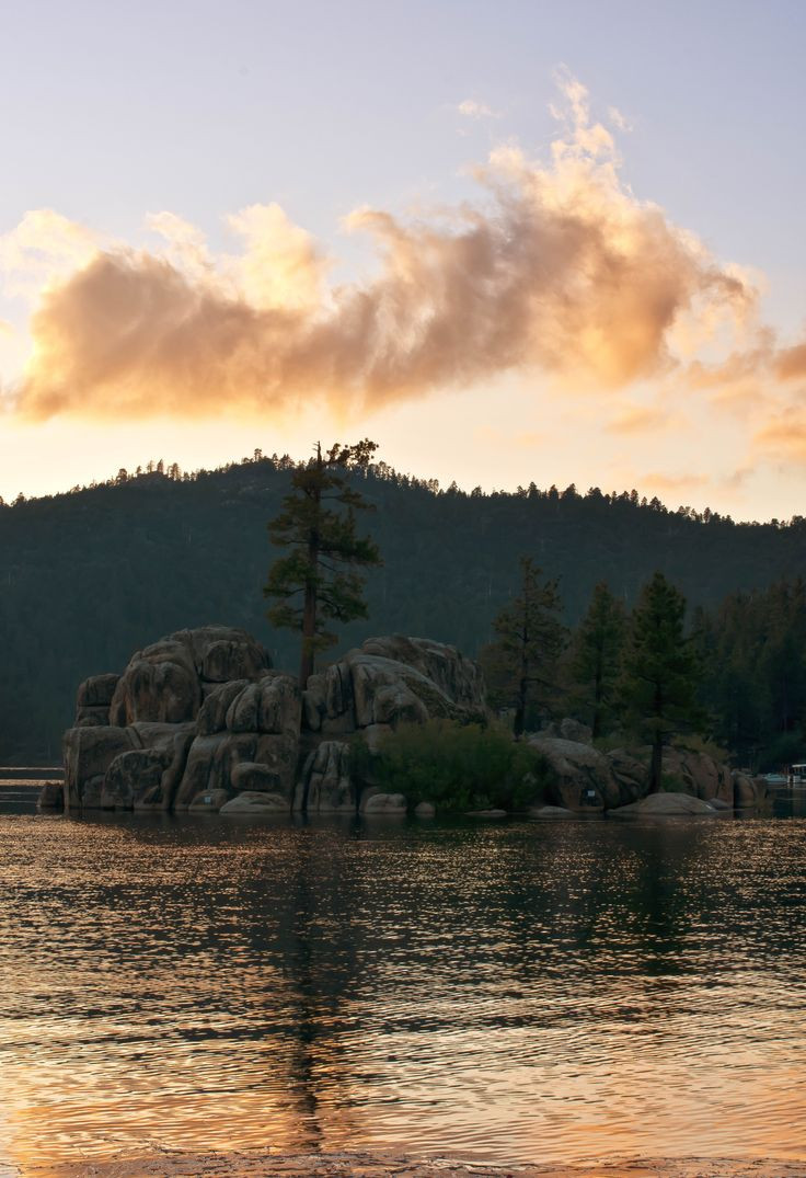 Sunset on Big Bear Lake