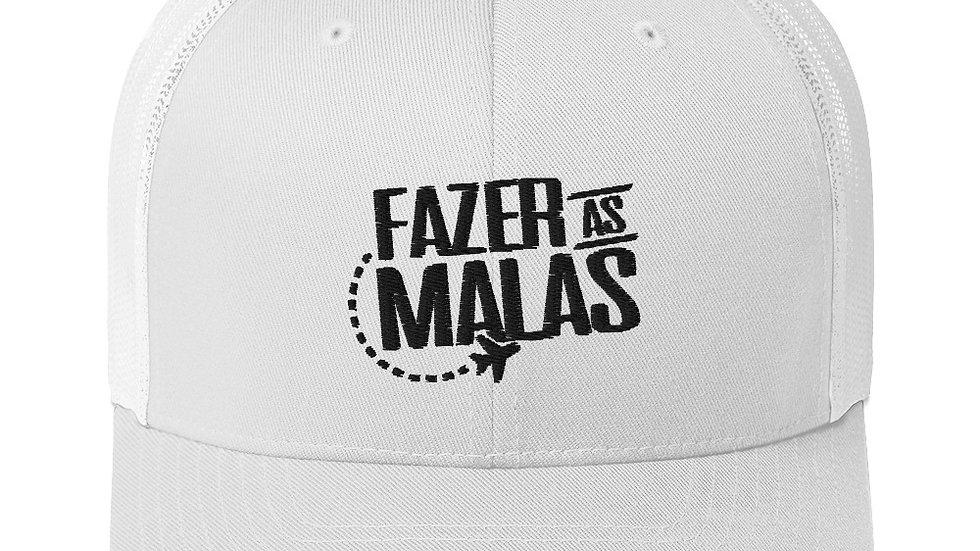 Trucker Cap - Fazer as Malas - Logo Preta