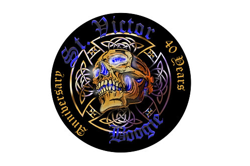 Patch: 40th Anniversary St. Victor Boogie sew on patch
