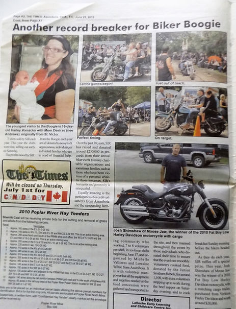The Assiniboia Times coverage of SIRs Annual St. Victor Boogie