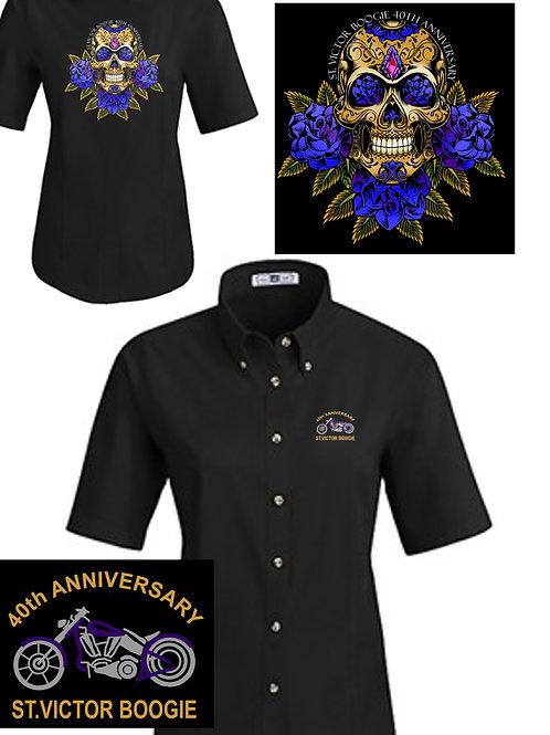 Women's 40th Anniversary Mechanics Shop Shirt