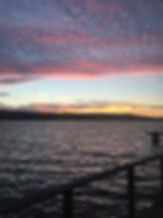 Sunset on Tomales Bay at Bayglow Cottage
