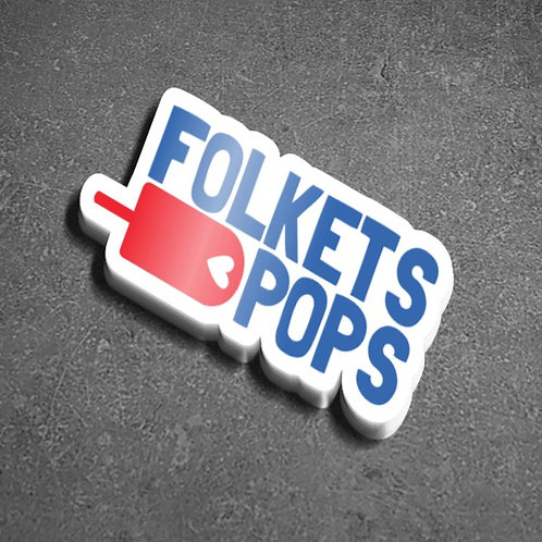 Folkets Pops Logo Sticker