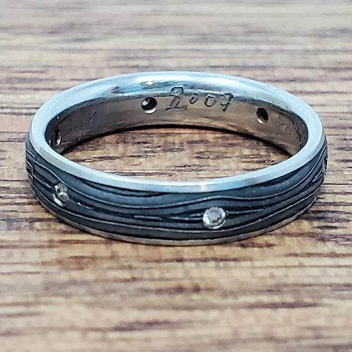 Victoria Moore Damascus Steel Ring