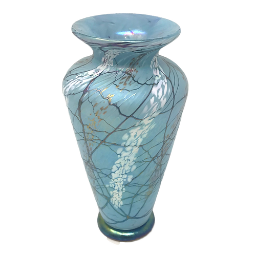 Vines Art Glass Vase