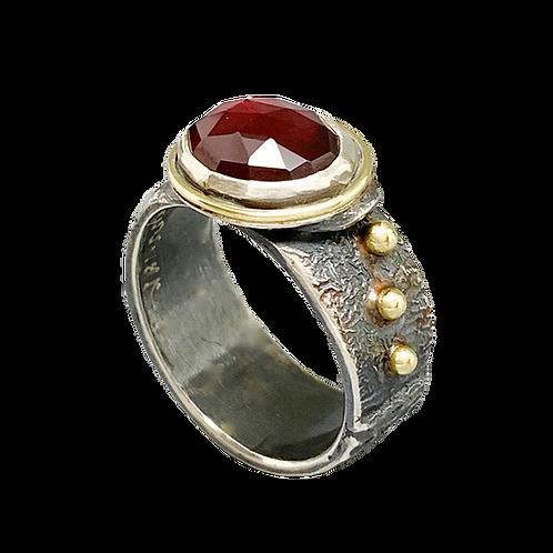 Jan Gordon Rose Cut Garnet Ring