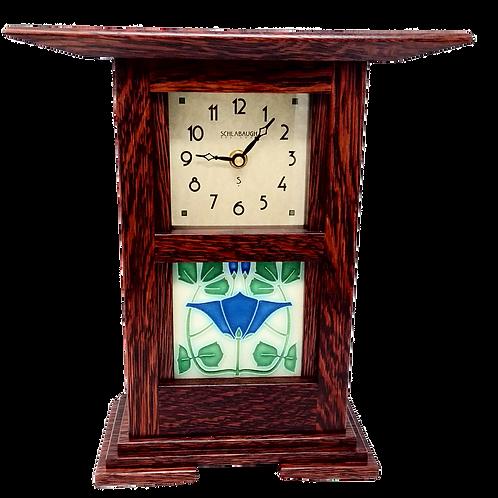 Wood Clock with Ceramic Tile