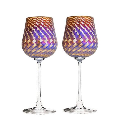 """Romeo """"Honeycomb"""" Wine Glasses"""