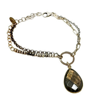 J & I Labradorite Bracelet