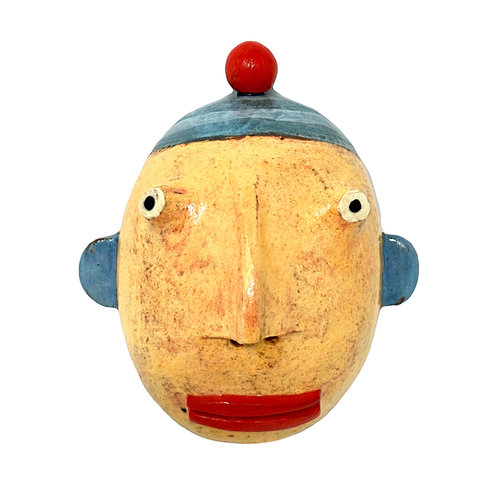 Kim Murton Wall Hanging, Head Sculpture