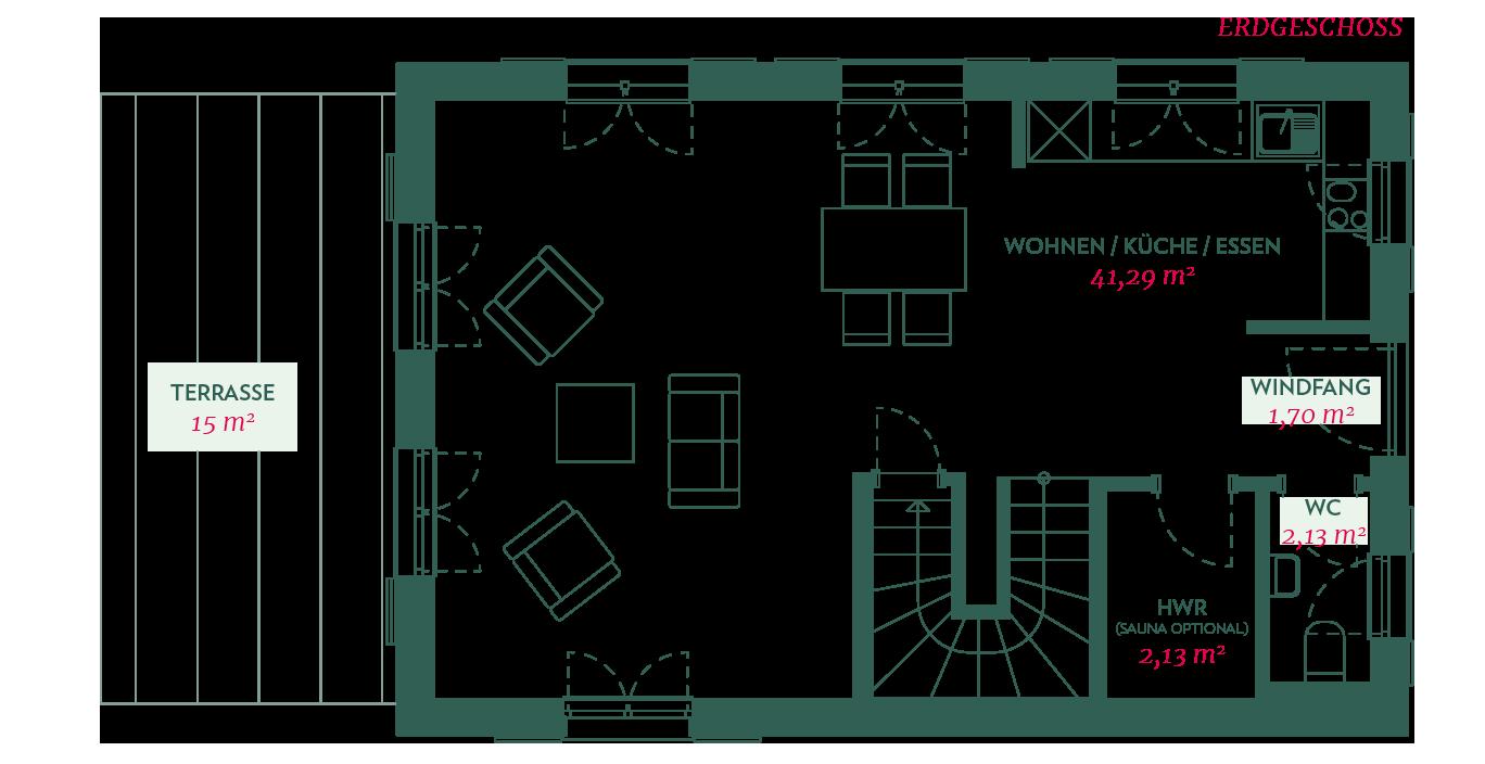 Erdgeschossgrundriss