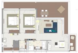 Typ 6 2. OG Endhaus Gebäude B