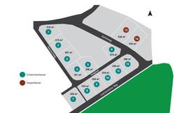 Baufeld mit Grundstücksaufteilung