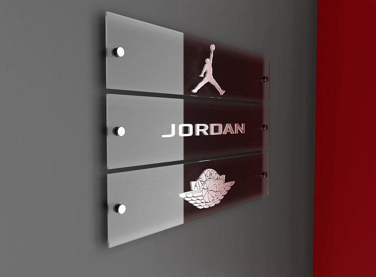 Jordan Acrylic Banners - Floating Wall Art