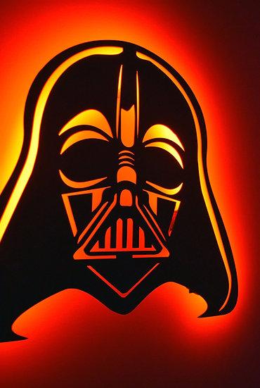Darth Vader - LED Backlit Floating Metal Wall Art