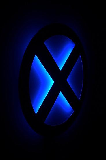 X-Men LED Backllit Logo - Floating Metal Wall Art