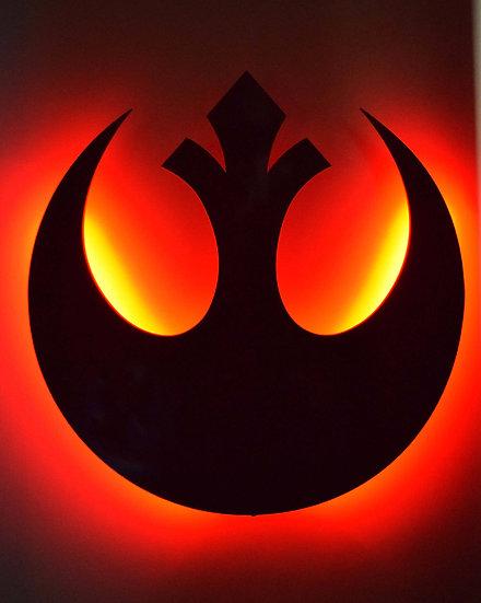 Rebel Alliance - LED Backlit Floating Metal Wall Art