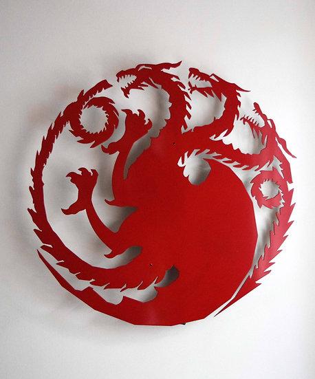 Targaryen Sigil - Floating Metal Wall Art