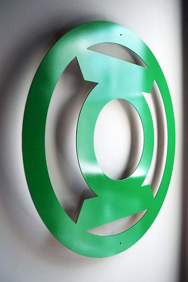 Green Lantern - Floating Metal Wall Art