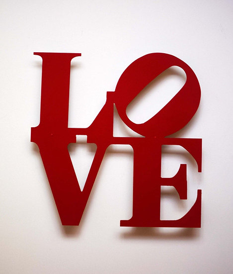 Philly Love Sign - Floating Metal Wall Art