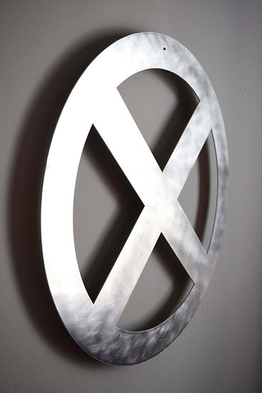 X-Men Logo - Floating Metal Wall Art