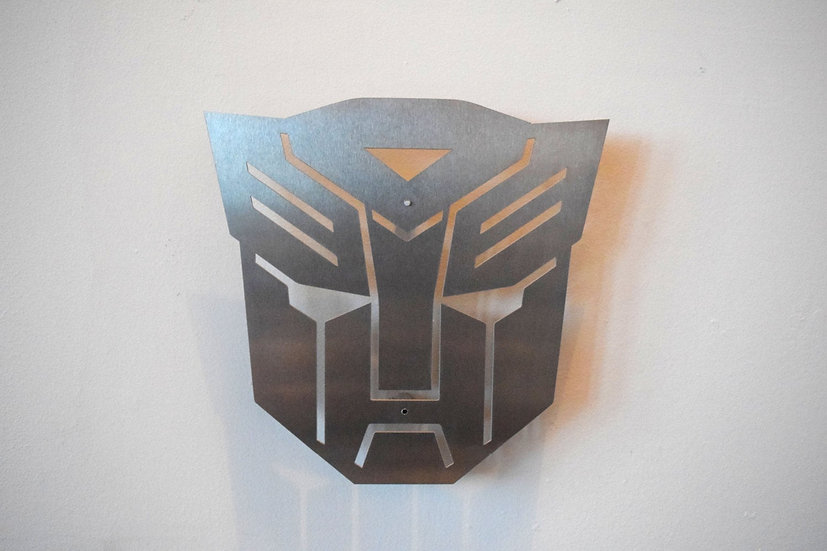 Autobots Logo - Floating Metal Wall Art