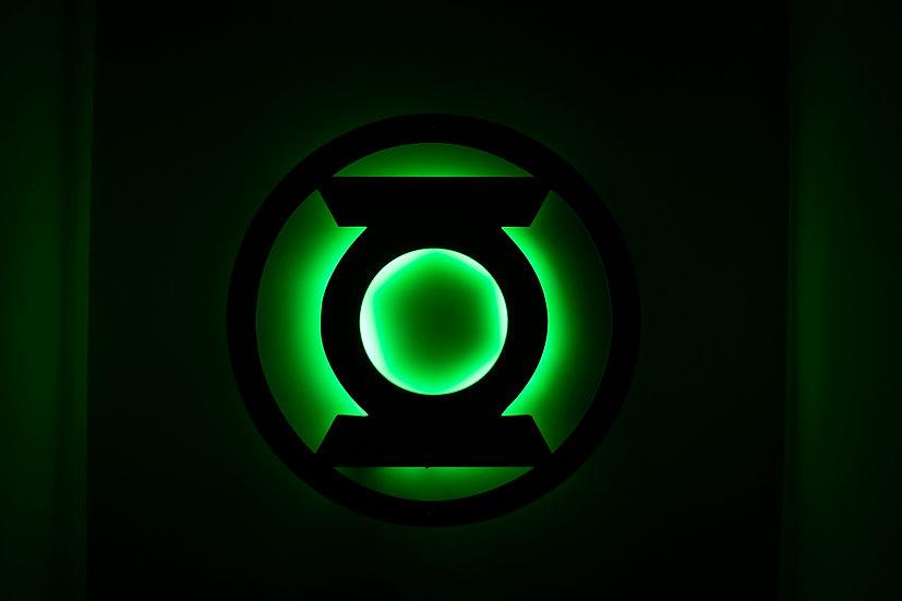 Green Lantern - LED Backlit Floating Metal Wall Art