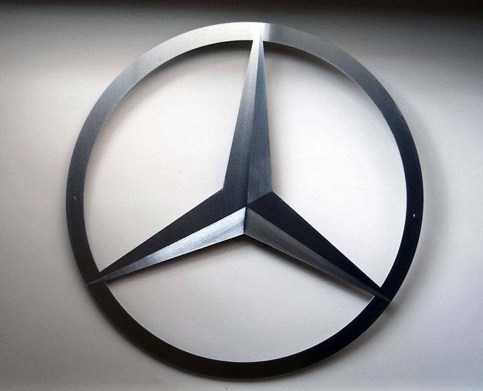 Mercedes Benz - Floating Metal Wall Art