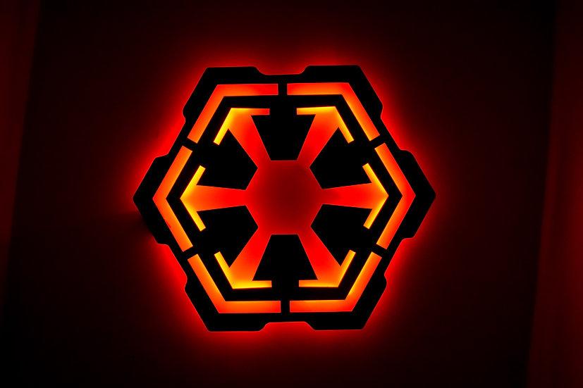 Sith - LED Backlit Floating Metal Wall Art