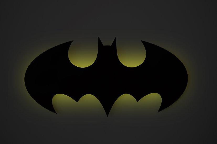 Batman - LED Backlit Floating Metal Wall Art
