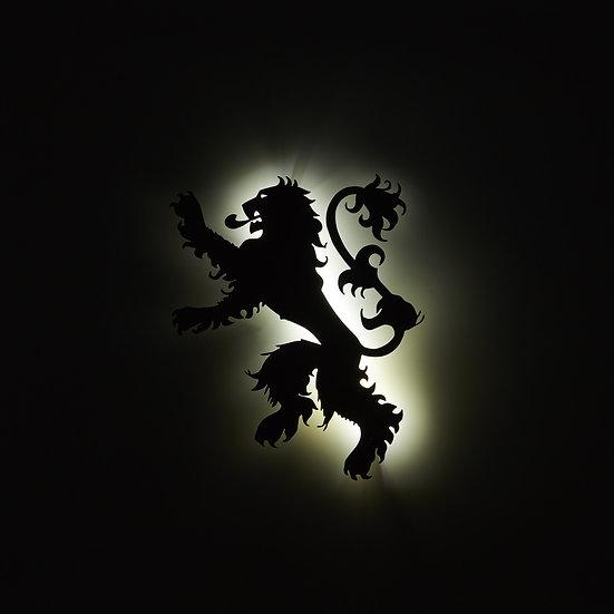 Lannister Sigil - LED Backlit Floating Metal Wall Art