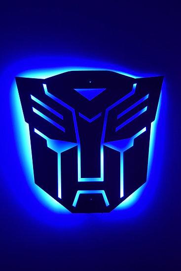 Autobots Logo - Back-Lit Floating Metal Wall Art