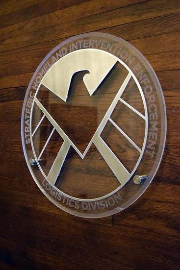 Shield Logo - Floating Metal Wall Art