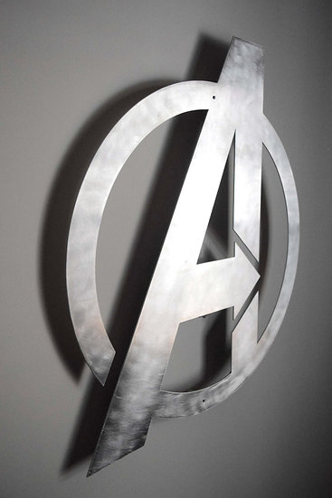 AVENGERS Logo - Floating Metal Wall Art