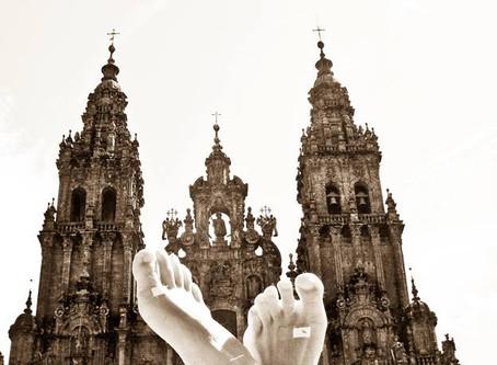 Pilgrimsled längs Santiago de compastela